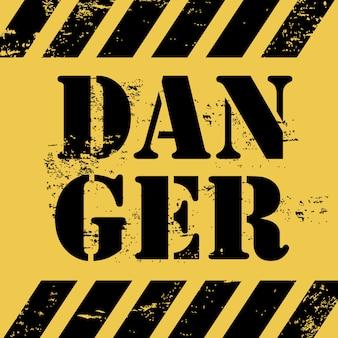 Conception de danger sur fond jaune vector illustration