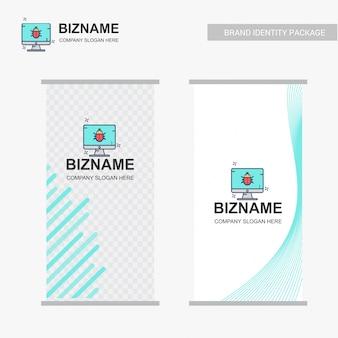 Conception de bannière Ads Company avec vecteur logo entreprise