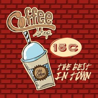 Conception de café délicieux, illustration vectorielle eps10 graphique