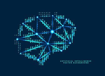 Conception de cerveau numérique avec concept de nombres technologiques