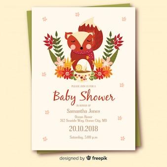 Conception de douche de bébé dans un style plat