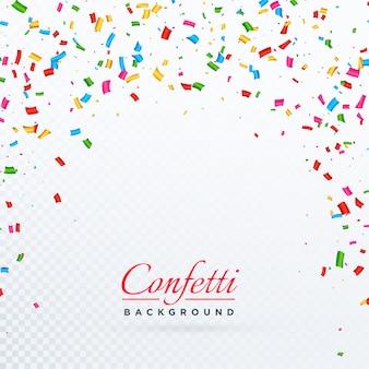 Conception de fond de confettis vecteur abstraite