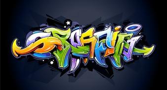 Conception de graffiti sur le mur