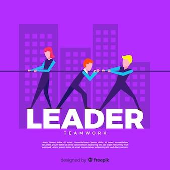 Conception de leadership à plat