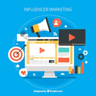 Conception de marketing d'influenceur créatif