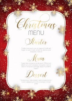 Conception de menu de Noël