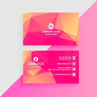 Conception de modèle de carte de visite colorée abstraite
