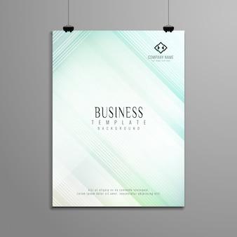 Conception de modèle élégant de brochure géométrique abstrait affaires