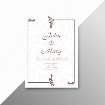 Conception de modèle floral abstrait carte invitation mariage élégant