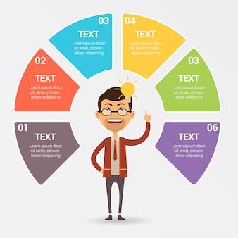 Conception de modèle infographique