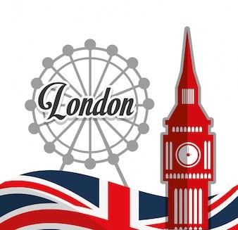 Conception de monuments de Londres