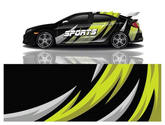 Conception de décalque d'emballage de voiture de sport