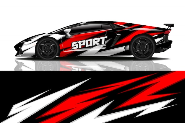 Conception de décalque d'enveloppe de voiture de sport