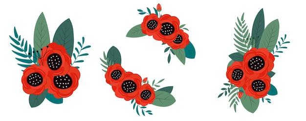Conception de décor de fleurs