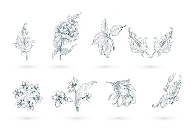 Conception de décor floral artistique abstrait