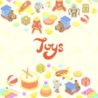 Conception de décoration vectorielle faite de jouets