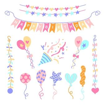 Conception de décorations d'anniversaire anniversaire
