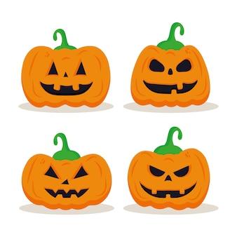 Conception de décors de dessins animés de citrouilles d'halloween, thème de l'halloween.