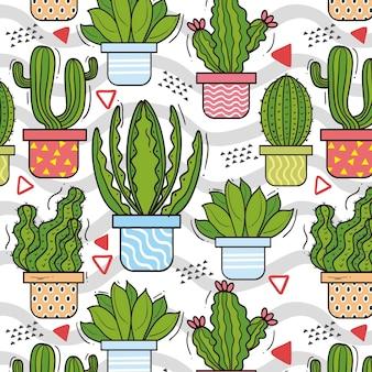 Conception de décors de modèle de cactus
