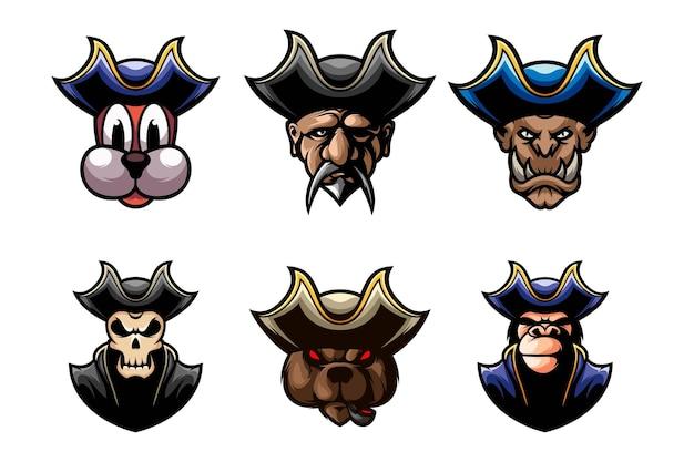 Conception de décors de tête de pirates