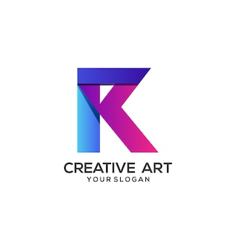Conception de dégradé coloré logo lettre r