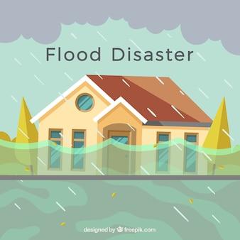Conception de désastre d'inondation