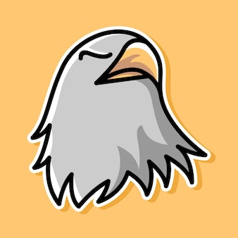 Conception de dessin animé aigle
