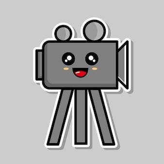 Conception de dessin animé de caméra mignonne