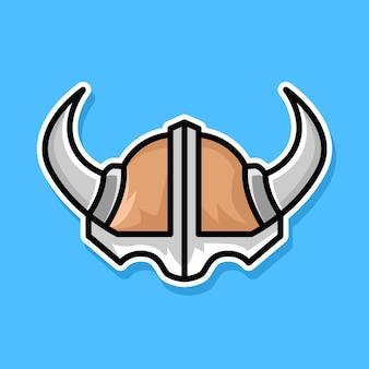 Conception de dessin animé de casque viking