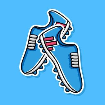 Conception de dessin animé de chaussures de football