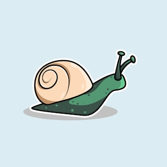 Conception de dessin animé d'escargot