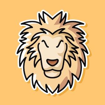 Conception de dessin animé de lion