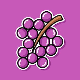 Conception de dessin animé de raisins