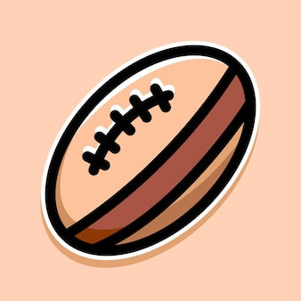 Conception de dessin animé de rugby