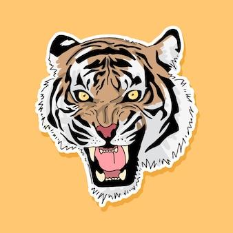 Conception de dessin animé de tigre