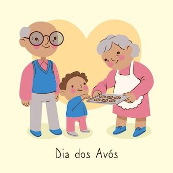 Conception de dessin dia dos avós