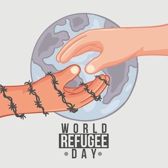 Conception de dessin pour la journée mondiale des réfugiés
