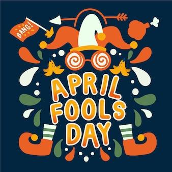 Conception dessiné à la main avril fools day