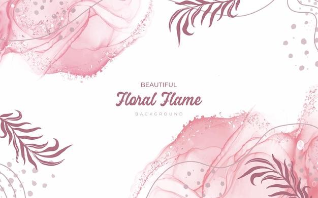 Conception dessinée à la main de fond floral