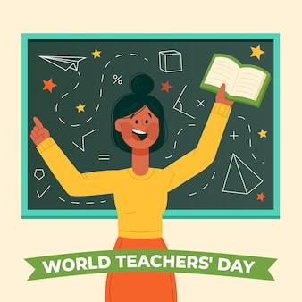 Conception dessinée à la main de la journée des enseignants