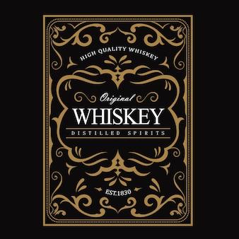 Conception détaillée d'étiquettes de whisky premium
