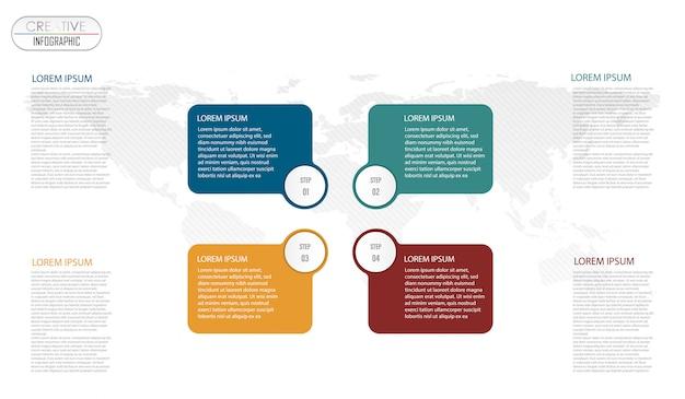Conception de diagramme infographique avec processus étape par étape