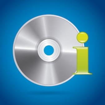 Conception de disque compact sur fond bleu
