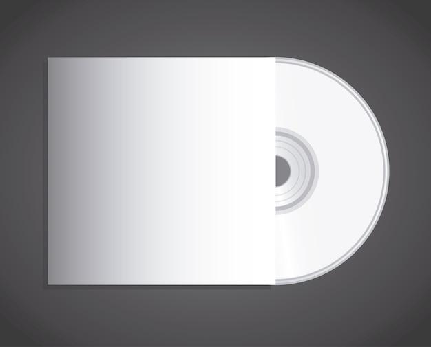 Conception de disque compact sur fond noir