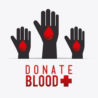 Conception de don de sang.