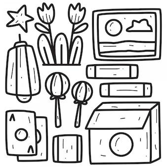Conception de doodle abstraite dessiné à la main