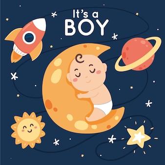 Conception de douche de bébé garçon