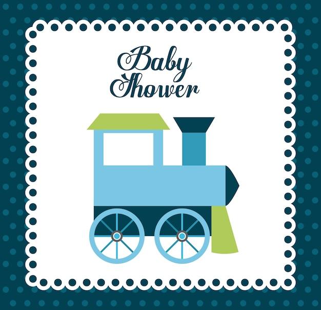 Conception de douche de bébé, illustration vectorielle eps10 graphique