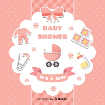Conception de douche de bébé pour fille