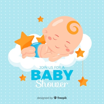 Conception de douche de bébé pour garçon